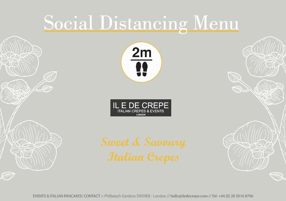 Social Distancing Catering Menu 1 London