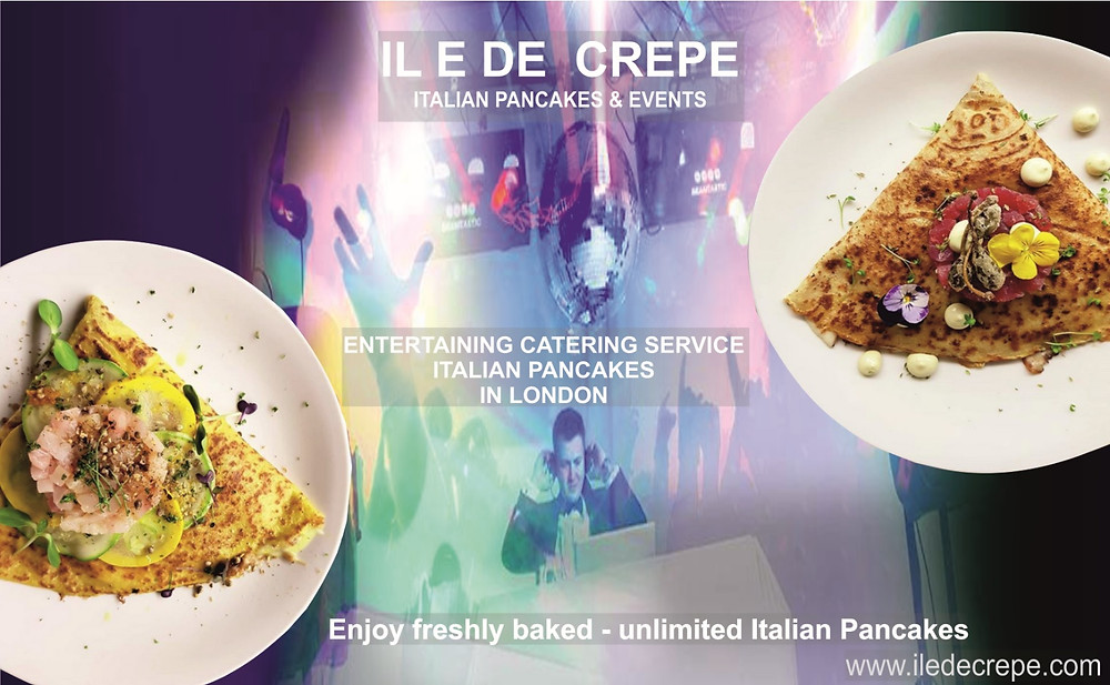 entertainment services, live DJ perfomance and pancake catering service in London