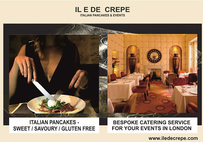 about us iledecrepe, corporate catering menu, pancake catering service London, crepe catering service London, Italian pancakes