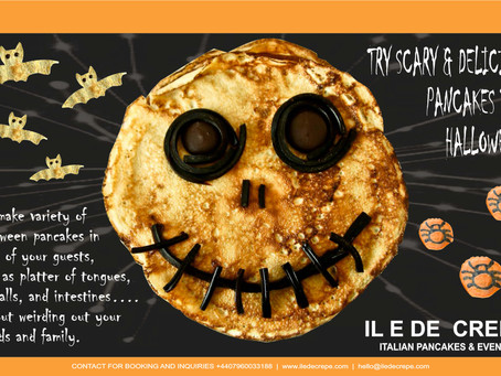 DELICIOUS HALLOWEEN CATERING | PARTY WITH SCARY PANCAKES / CREPES | ILEDECREPE.COM