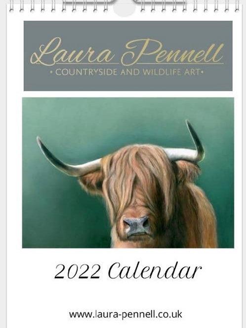 Laura Pennell Wildlife Art 2022 Calendar