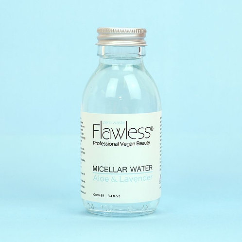 Soothing Micellar Water with Aloe & Lavender.