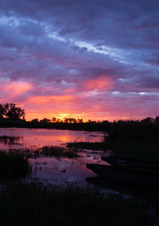 Abendstimmung im Okavangodelta