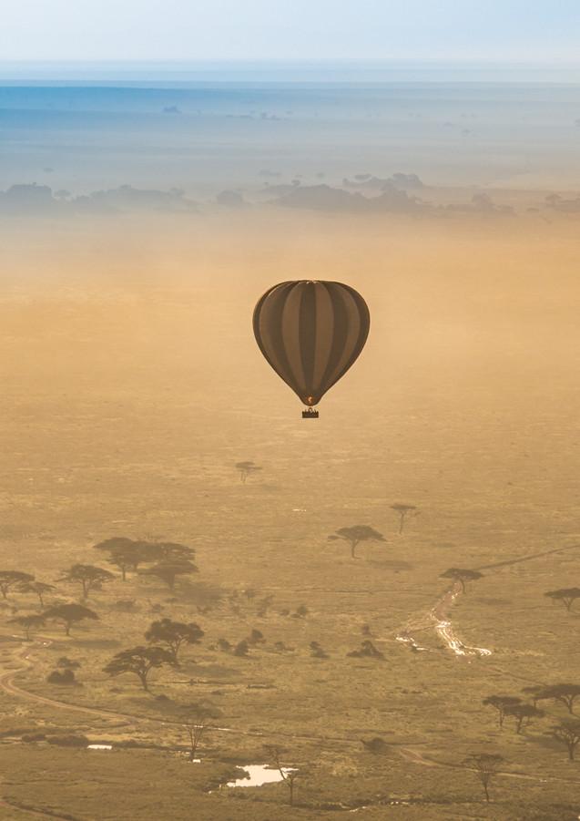Ballonflug über der Serengeti