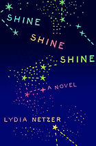 A book cover with a dark blue background with stars on it.