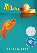 A book cover showing a goldfish and a rubber duck in water with the word 'Rules'.