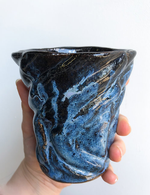 Large Wave Bisque Mold Cup