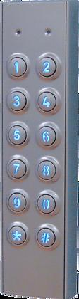 VR62 Vandal Resistant Slim Line Keypad