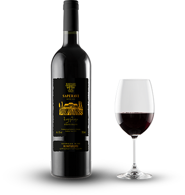 Saperavi red dry wine