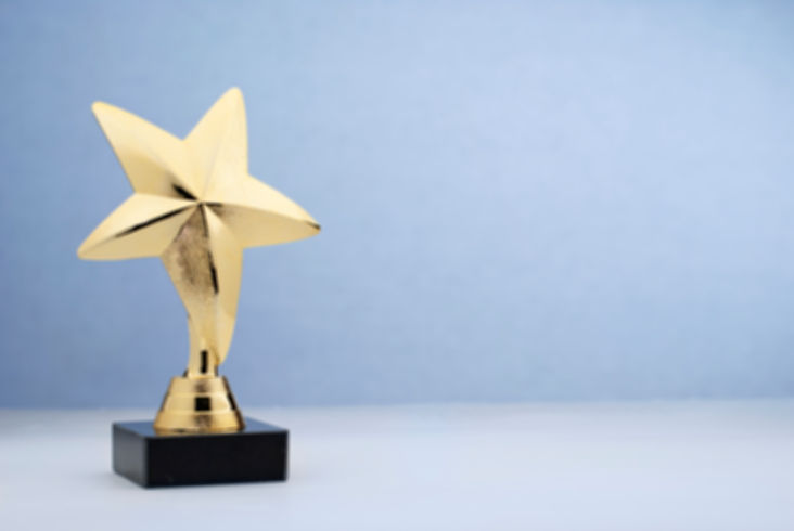 star-shaped-golden-trophy-for-rewarding-