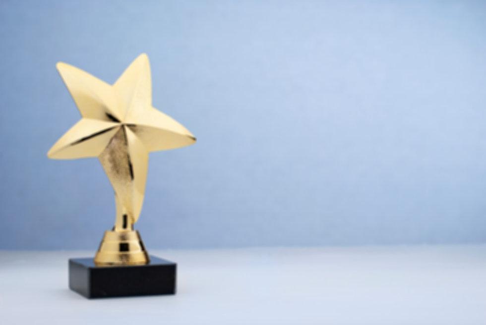 star-shaped-golden-trophy-for-rewarding-