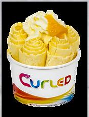 Curled Mango Madness Icecream