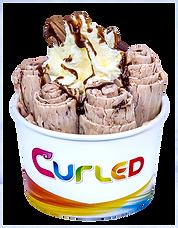 Curled Double Choc Icecream