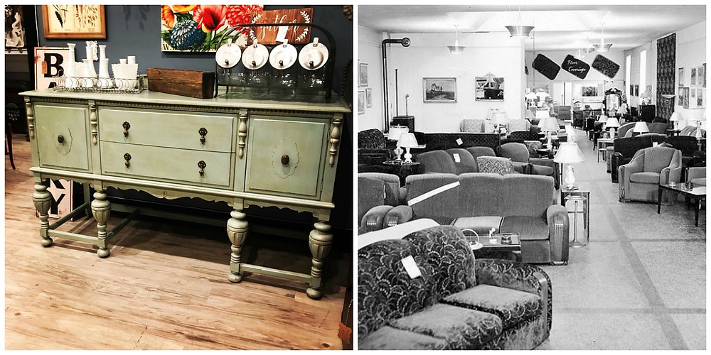 Vintage goods provide character you won't find at a cookie cutter furniture store.