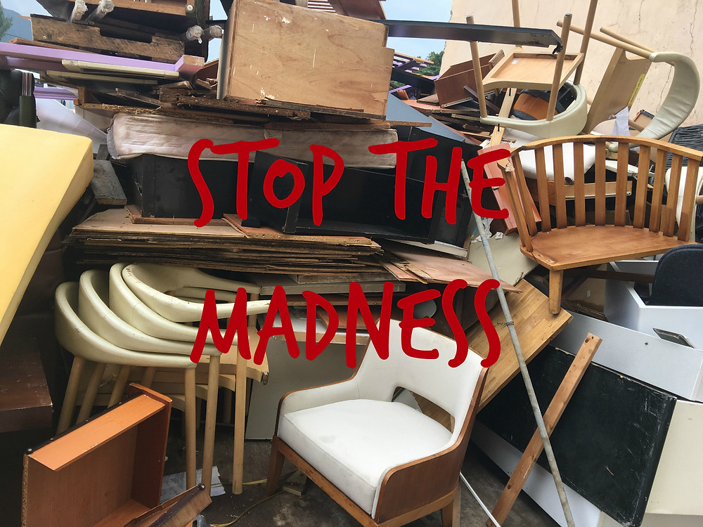 9.8 million tons of furniture is tossed out in the US each year.