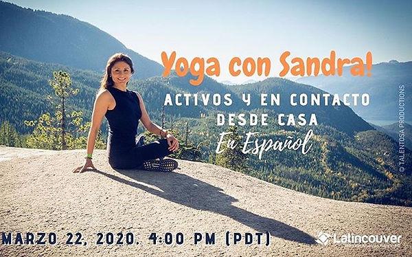 @latincouver Únete a esta sesión de yoga