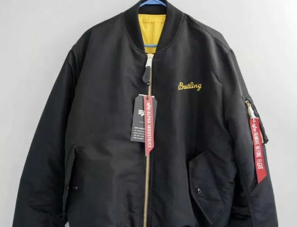 Breitling X Alpha Industries reversible Flight Jacket (Size L) New