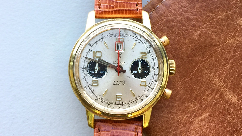 """LeJour Panda """"Red Window"""" Chronograph (SOLD)"""