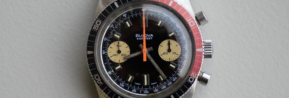 "1973 Bulova N3 ""666"" Deep Sea Diver Chronograph ""b"""