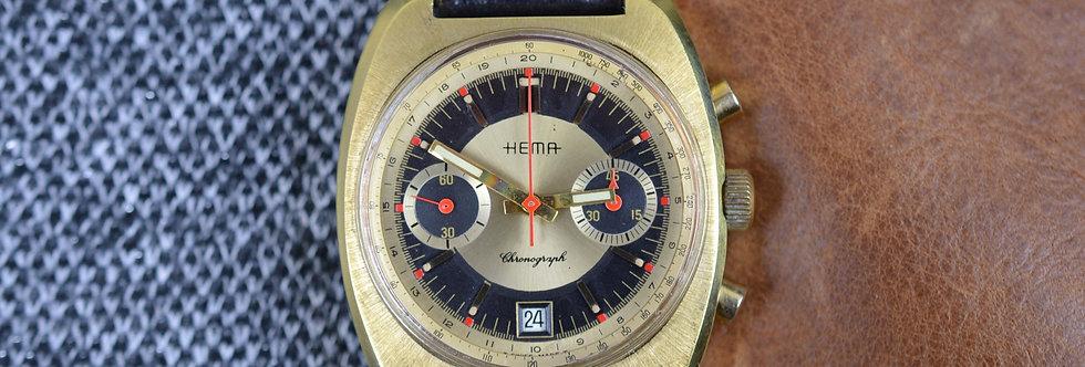 1970s Vintage Hema Chronograph Valjoux 7734