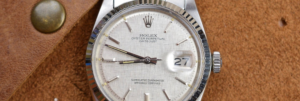 1967 Rolex Datejust Ref. 1601 Linen Sigma Dial Serial (154XXXX)