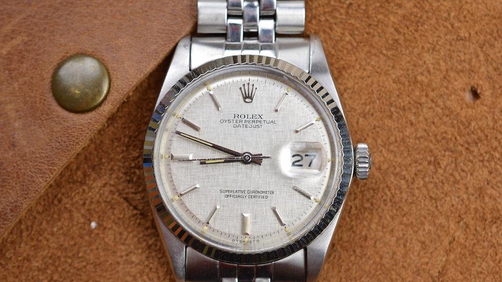 1967 Rolex Datejust Ref. 1600 Linen Sigma Dial Serial (154XXXX)