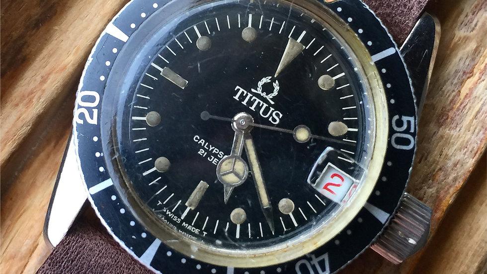 """Titus Calypsomatic 7987 """"Big Crown"""" Roulette  ETA 2472"""
