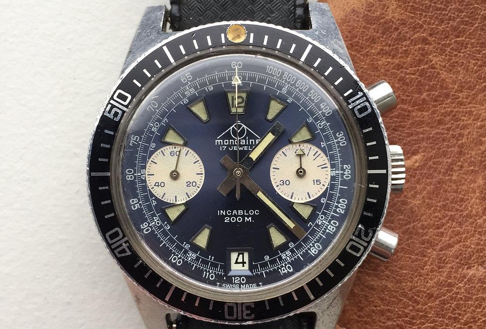 1970s Mondaine Chronograph Valjoux 7784