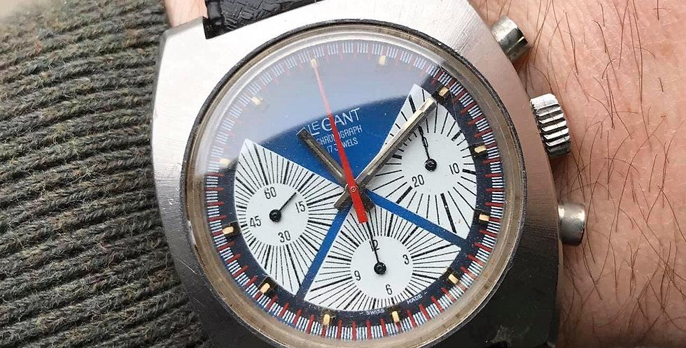 1970's Valjoux 7736 LEGANT Chronograph TRIPLE Registers