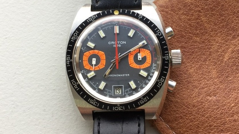 "Croton Chronomaster ""Dual Orange"" (SOLD)"