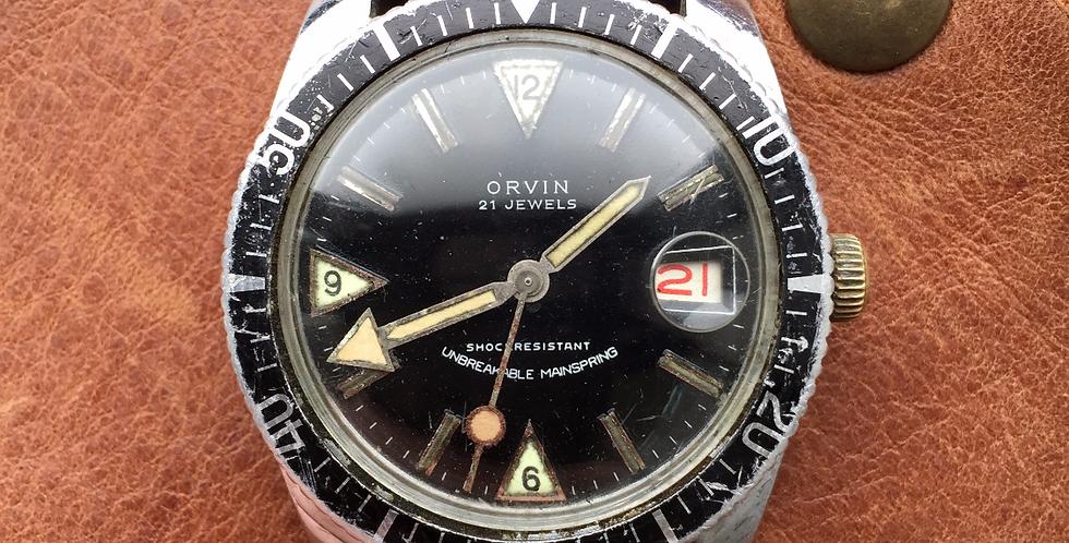 """1970s Orvin 21 Roulette Diver """"Lollipop"""""""