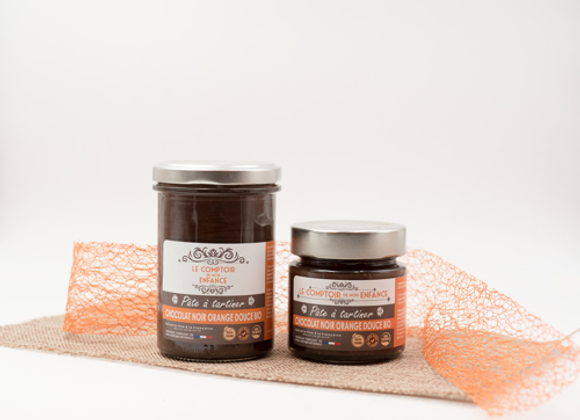 Pâte à tartiner chocolat noir orange douce bio
