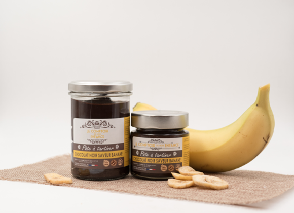 Pâte à tartiner chocolat noir banane