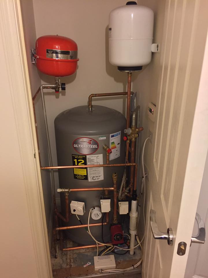 The old unvented had split/burst, water ran right through the property.  HiPro Heating installed a Kingspan Ultrasteel replacement cylinder the next day.