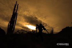 Desierto de la Tatacoa contraluz