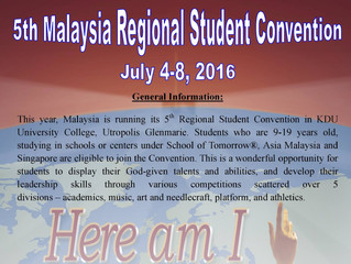 REGIONAL STUDENT CONVENTION(2016)