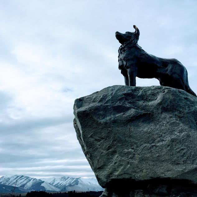Bronze Sheepdog Statue