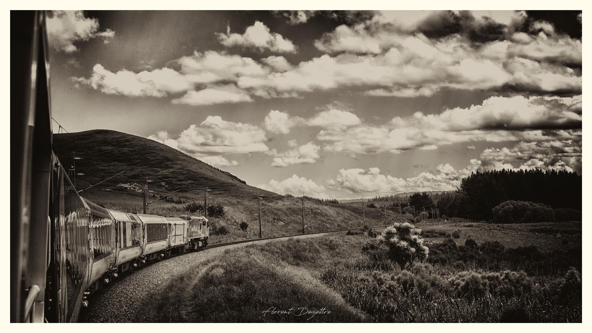 Sepia-Train-Ride