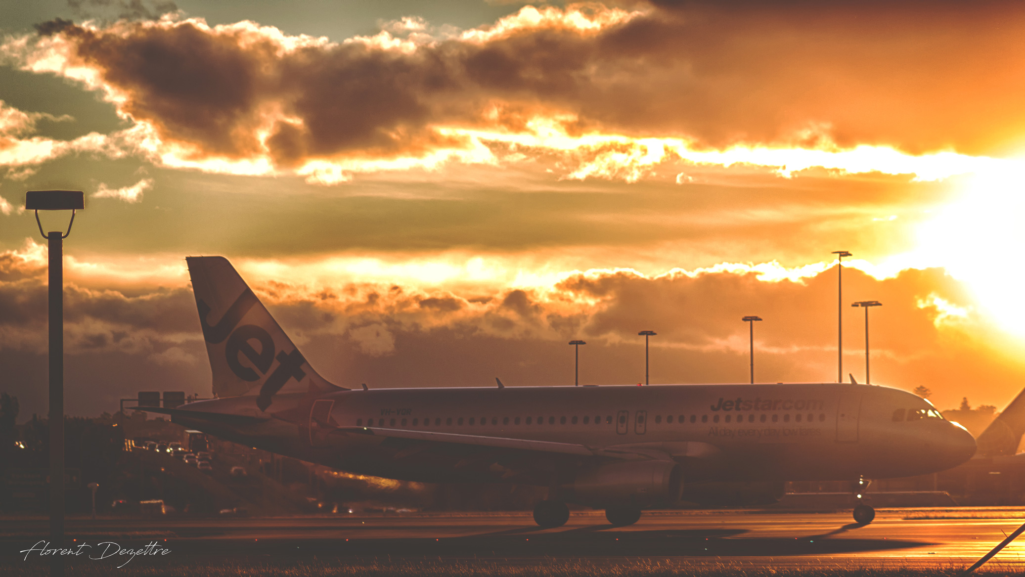 Sunset-Taxiing