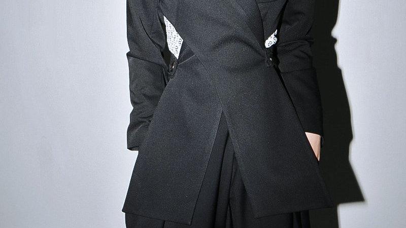 Kaida Cross Split Long Sleeve Jacket