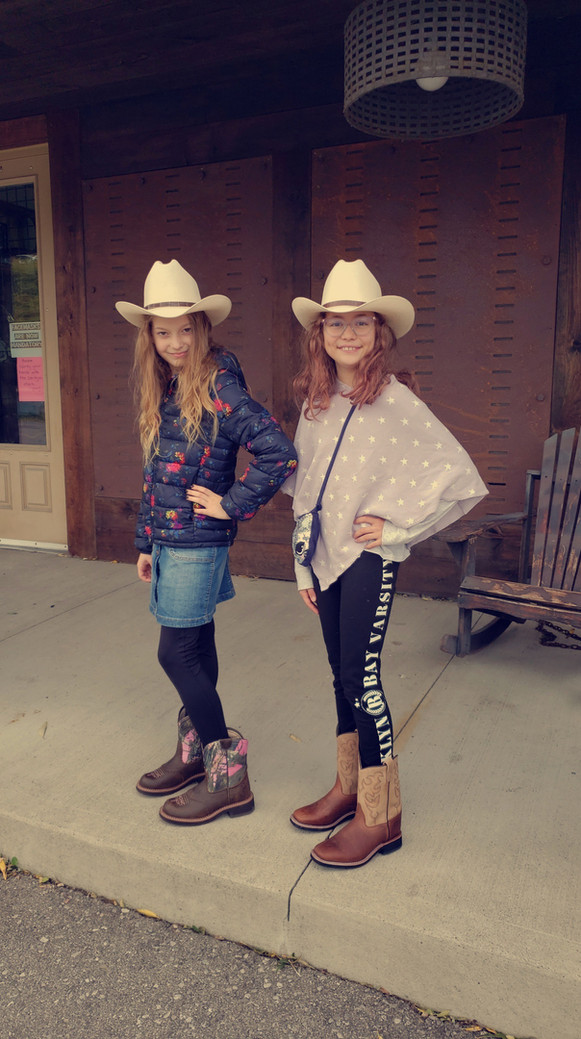 Modeling their New Cowgirl Attire