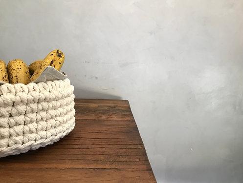 cesta decorativa multi uso em croche artesanal