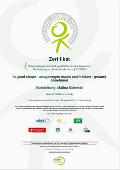 Zertifikat ZPP § 20 SGB V
