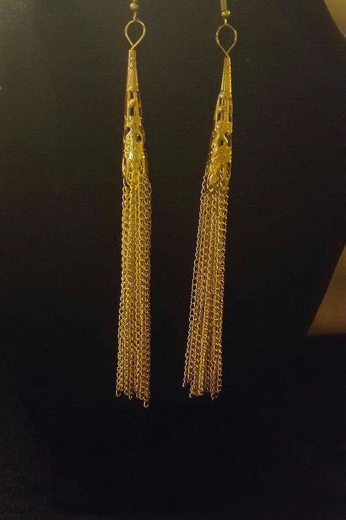 Gold Chain Tassels