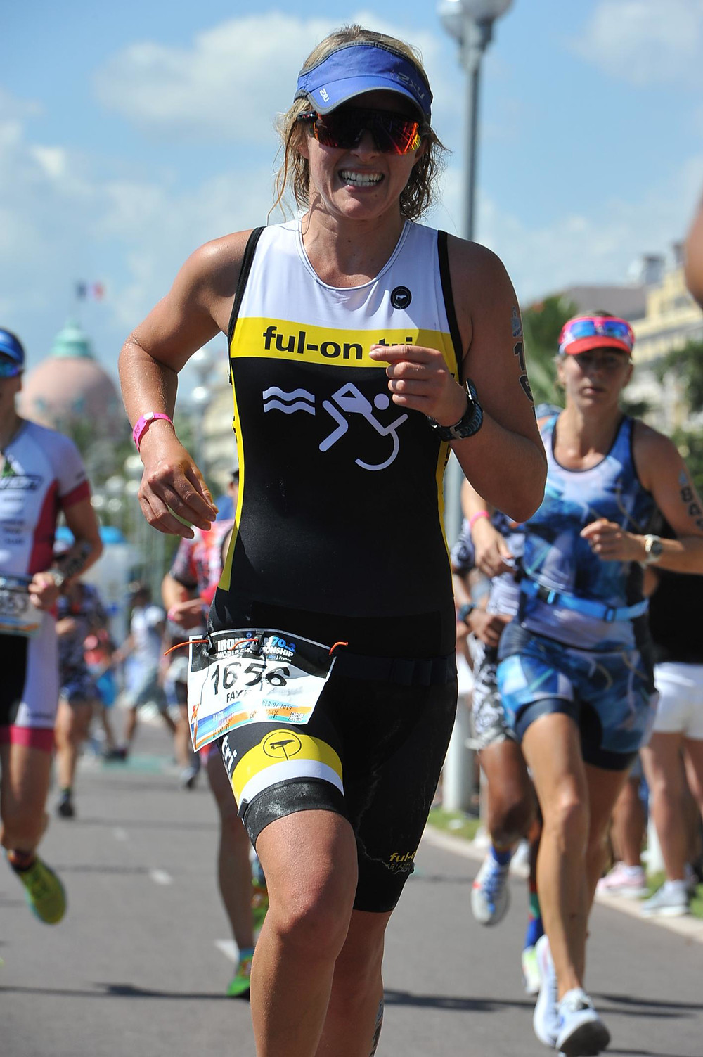 Another fantastic race face! In the last kilometre of the half marathon in the Ironman 70.3 World Championships
