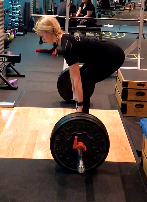Deadlifting (posterior chain work - hamstrings, glutes, back) is a great exercise to complement triathlon training which is a very quad-dominant sport