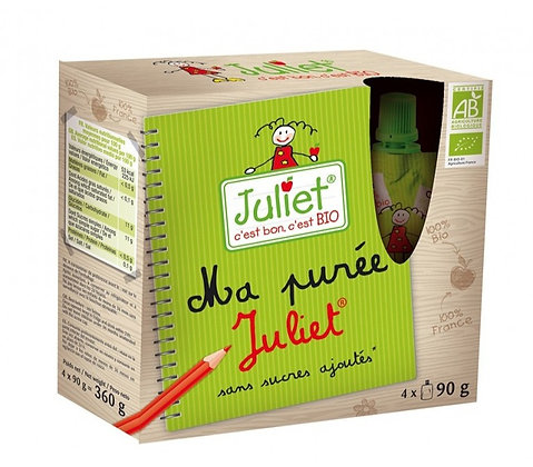 JULIET - Purée Pomme Gourdes x4