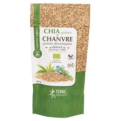 TONIC NATURE - Graines de Chia et Chanvre 200g