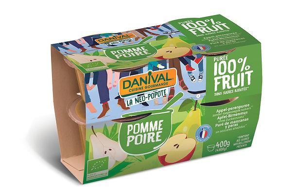 DANIVAL -Dessert Pomme Poire 4x100g