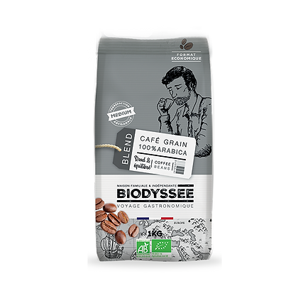 BIODYSSÉE - Café Grains Arabica Medium 1kg